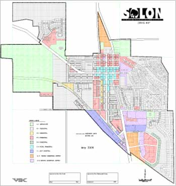See a larger version of this Solon Zoning Map.